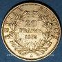 Coins 2e empire (1852-1870). 20 francs Napoléon III tête nue 1855 A. Main / ancre. (PTL 900‰. 6,45 g)