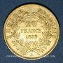 Coins 2e empire (1852-1870). 20 francs, Napoléon III, tête nue 1859A. 900 /1000. 6,45 g