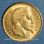 Coins 2e empire (1852-1870). 20 francs Napoléon tête laurée 1868 BB. Strasbourg. (PTL 900 ‰. 6,45 g)