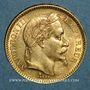 Coins 2e empire (1852-1870). 20 francs tête laurée 1863A. (PTL 900 /1000. 6,45 g)