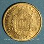 Coins 2e empire (1852-1870). 20 francs tête laurée 1866A. 900 /1000. 6,45 gr