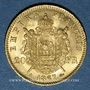 Coins 2e empire (1852-1870). 20 francs tête laurée 1867A. 900 /1000. 6,45 gr