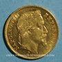 Coins 2e empire (1852-1870). 20 francs tête laurée 1867BB. Strasbourg. Petit BB. (PTL 900 /1000. 6,45 gr)