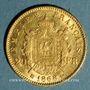 Coins 2e empire (1852-1870). 20 francs tête laurée 1868BB. Strasbourg. 900 /1000. 6,45 gr