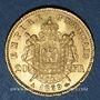 Coins 2e empire (1852-1870). 20 francs tête laurée 1869A. 900 /1000. 6,45 gr