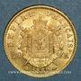 Coins 2e empire (1852-1870). 20 francs tête laurée 1869BB. Strasbourg. Grand BB (PTL 900 /1000. 6,45 g)
