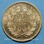 Coins 2e empire (1852-1870). 5 francs tête nue 1855 A. Petit module. (PTL 900‰. 1,612 g)