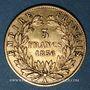 Coins 2e empire (1852-1870). 5 francs tête nue 1856 A. Grand module. (PTL 900‰. 1,612 g)