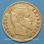 Coins 2e empire (1852-1870). 5 francs tête nue 1858 A. Grand module. (PTL 900‰. 1,612 g)