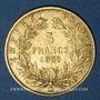 Coins 2e empire (1852-1870). 5 francs tête nue 1859 A. Grand module. (PTL 900‰. 1,612 g)