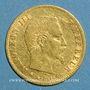 Coins 2e empire (1852-1870). 5 francs tête nue 1859 BB. Strasbourg. Diff: abeille. (PTL 900‰. 1,612 g)