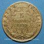 Coins 2e empire (1852-1870). 5 francs tête nue 1859 BB. Strasbourg. ((PTL 900‰. 1,612 g)