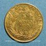 Coins 2e empire (1852-1870). 5 francs tête nue 1859A. Grand module. 900 /1000. 1,612 gr