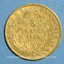 Coins 2e empire (1852-1870). 5 francs tête nue 1860 A. Main. (PTL 900‰. 1,612 g)