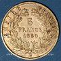 Coins 2e empire (1852-1870). 5 francs tête nue 1860 BB. Strasbourg. Variété 6/5. (PTL 900‰. 1,612 g)