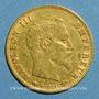Coins 2e empire (1852-1870). 5 francs tête nue 1860A. Main. (TPL 900 /1000. 1,612 gr)
