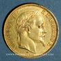 Coins 2e empire (1852-1870). 50 francs, Napoléon III, tête laurée 1867A. 900 /1000. 16,12 gr