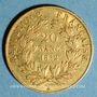 Coins 2e république (1848-1852). 20 francs Louis Bonaparte 1852A. 900 /1000. 6,45 g