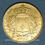 Coins 2e restauration. Louis XVIII (1815-1824). 20 francs buste habillé 1815A. 900 /1000. 6,45 gr