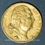 Coins 2e restauration. Louis XVIII (1815-1824). 20 francs buste nu 1817W. Lille. 900 /1000. 6,45 gr