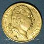 Coins 2e restauration. Louis XVIII (1815-1824). 20 francs buste nu 1818A .900 /1000. 6,45 gr