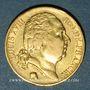 Coins 2e restauration. Louis XVIII (1815-1824). 20 francs buste nu 1818W. Lille. 900 /1000.  6,45 gr
