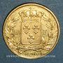 Coins 2e restauration. Louis XVIII (1815-1824). 20 francs buste nu 1820A. (PTL 900 /1000. 6,45 g)