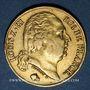 Coins 2e restauration. Louis XVIII (1815-1824). 20 francs buste nu 1824A. 900 /1000. 6,45 gr