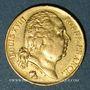Coins 2e restauration. Louis XVIII (1815-1824). 20 francs buste nu 1824W. Lille. 900 /1000. 6,45 gr