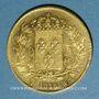 Coins 2e restauration. Louis XVIII (1815-1824). 40 francs 1818W. Lille (900 /10000. 12,80 g)