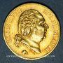 Coins 2e restauration. Louis XVIII (1815-1824). 40 francs buste nu 1816L. Bayonne. 900 /1000. 12,90 gr