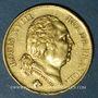 Coins 2e restauration. Louis XVIII (1815-1824). 40 francs buste nu 1816Q. Perpignan. 900 /1000. 12,90 g