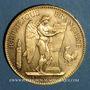 Coins 3e république (1870-1940). 100 francs Génie 1900A. (PTL 900‰. 32,25 g)