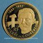 Coins 5e république (1959- ). 500 francs 1991. BE. Pierre de Coubertin. (PTL 920‰. 17 g)