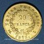 Coins Cent-Jours (20 mars - 22 juin 1815). 20 francs Napoléon I 1815L. Bayonne