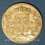 Coins Charles X (1824-1830). 20 francs 1827A. 900 /1000. 6,45 gr