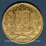 Coins Charles X (1824-1830). 20 francs 1830A. 900 /1000. 6,45 g