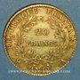 Coins Consulat (1799-1804). 20 francs an 12A. (PTL 900 /1000. 6,45 g)