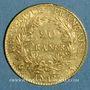 Coins Consulat (1799-1804). 20 francs an 12A. (PTL 900 /1000. 6,45 gr)