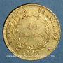 Coins Consulat (1799-1804). 40 francs an 12A. (PTL 900‰. 12,90 g)