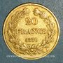 Coins Louis Philippe (1830-1848). 20 francs tête laurée 1836 A. (PTL 900‰. 6,45 g)
