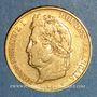 Coins Louis Philippe (1830-1848). 20 francs tête laurée 1839 A. (PTL 900‰. 6,45 g)