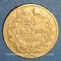Coins Louis Philippe (1830-1848). 20 francs tête laurée 1839A. (PTL 900‰. 6,45 g)