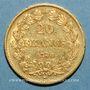 Coins Louis Philippe (1830-1848). 20 francs tête laurée 1840A. (PTL 6,45g 900/1000)