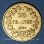 Coins Louis Philippe (1830-1848). 20 francs tête laurée 1840A. (PTL 900‰. 6,45 g)