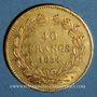 Coins Louis Philippe (1830-1848). 40 francs tête laurée 1834 A. (PTL 900‰. 12,90 g)