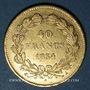 Coins Louis Philippe (1830-1848). 40 francs tête laurée 1834A. 900 /1000. 12,90 gr