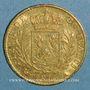 Coins Louis XVIII (1815-1824). 20 francs buste habillé 1815A. (PTL 900‰. 6,45 g). Type avec 5 court