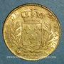 Coins Louis XVIII (1815-1824). 20 francs buste habillé 1815A. (PTL 900/1000. 6,45 g). Type avec 5 court