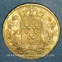 Coins Louis XVIII (1815-1824). 20 francs buste nu 1819A. (PTL 900‰. 6,45 g)
